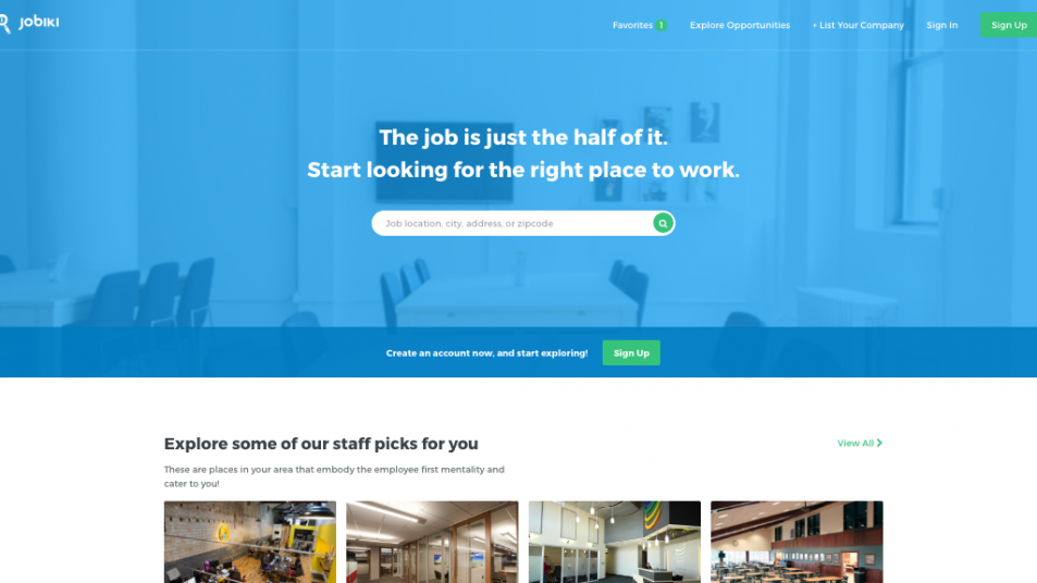 Jobiki Homepage Screenshot